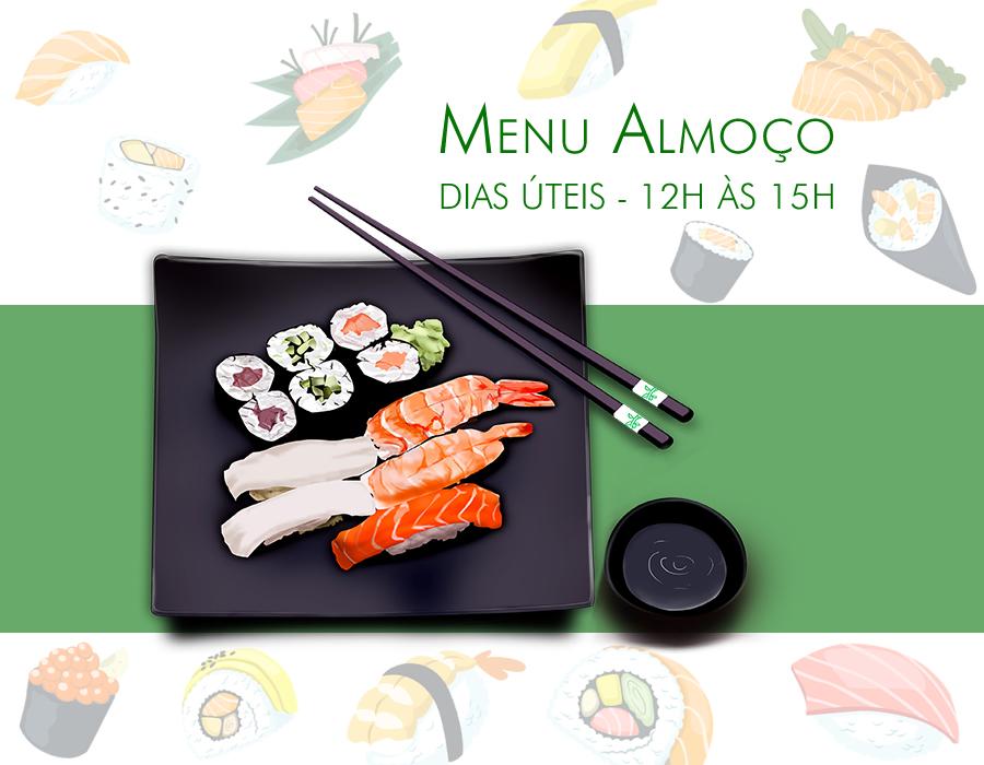 Menu almoço sushi
