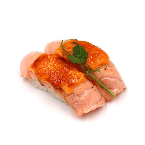 Aburi Hot Nigiri Salmão