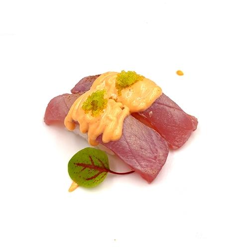 Aburi Nigiri Atum c/ Maionese Picante e Green Roe